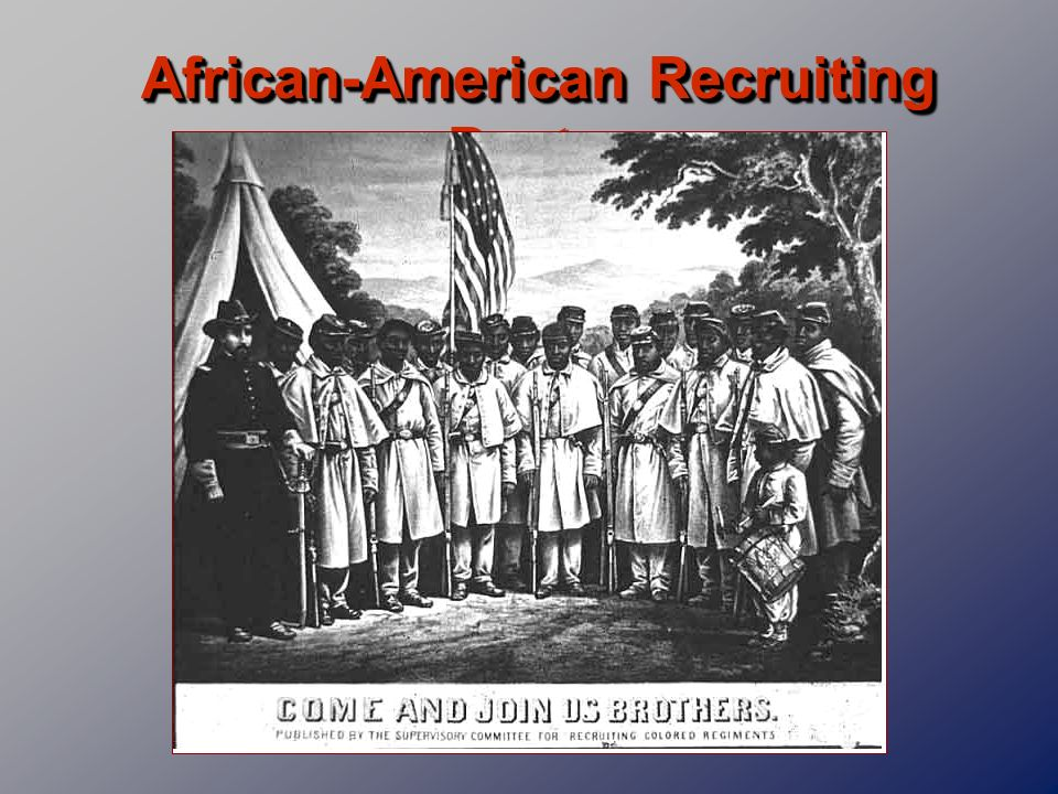 African-American Recruiting Poster