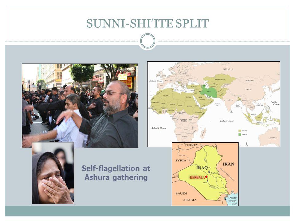 SUNNI-SHIITE SPLIT Self-flagellation at Ashura gathering
