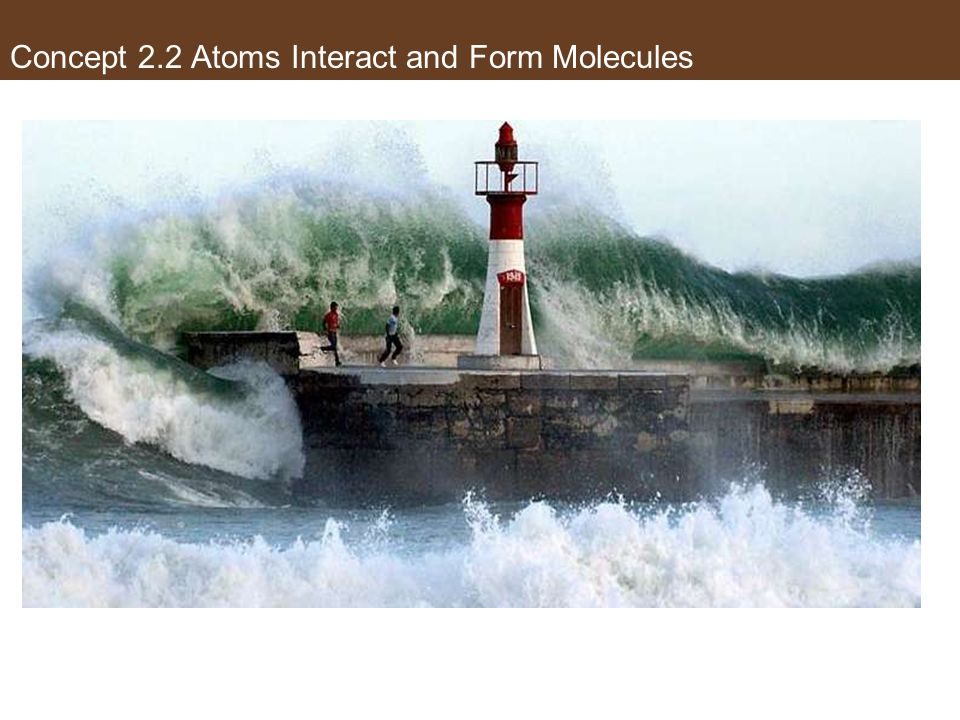 Water: exists in nature as three states of matter Concept 2.2 Atoms Interact and Form Molecules