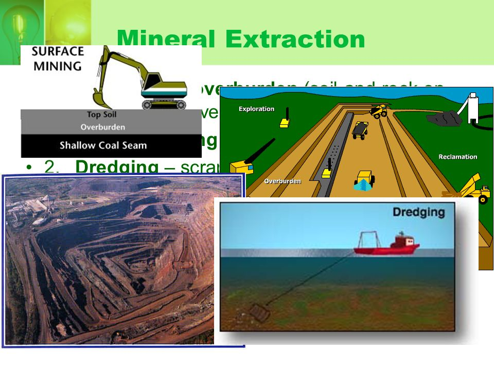 Methods For Finding Mineral Deposits A.Photos and Satellite Images B.Airplanes fly with radiation equipment and magnetometers C.Gravimeter (density) D