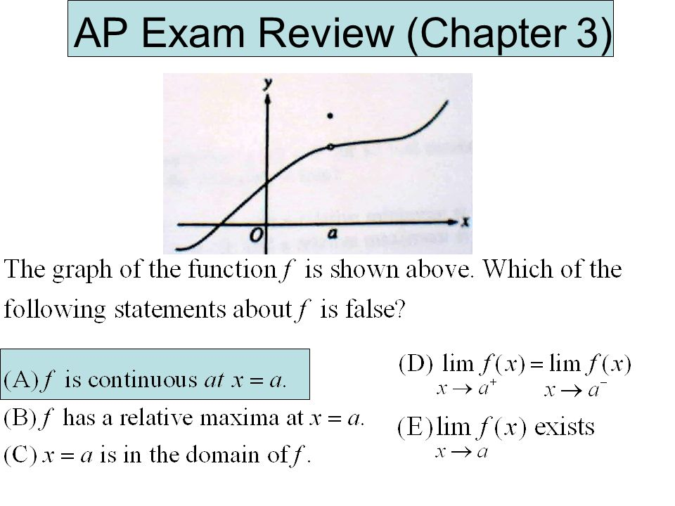 AP Exam Review (Chapter 3)