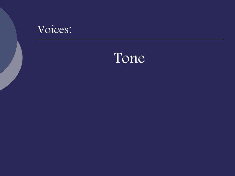 Voices : Tone