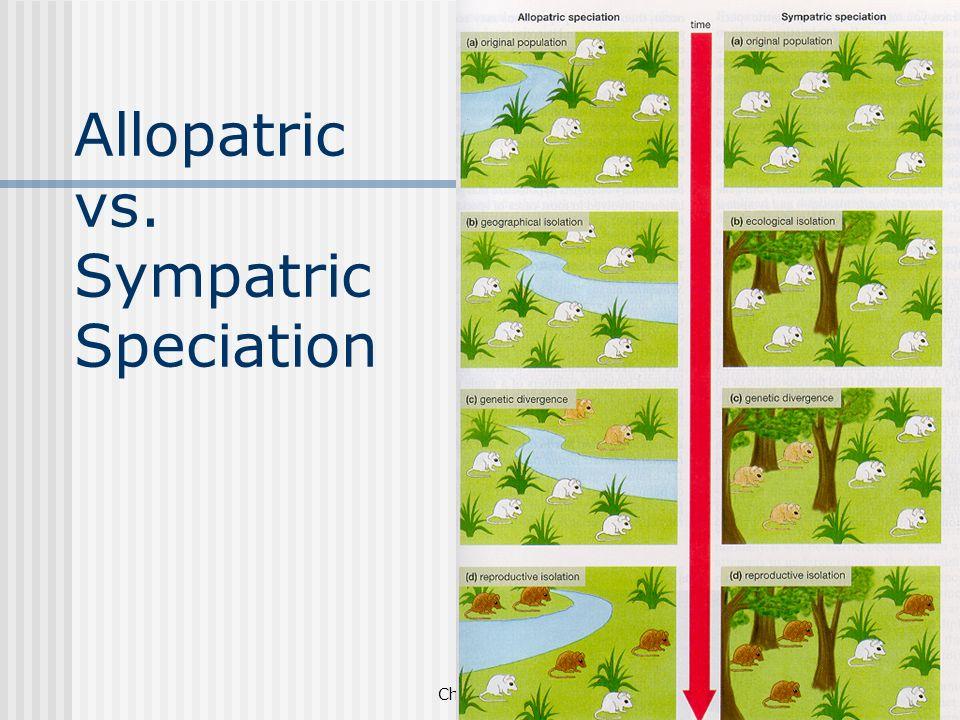 Chapter 19 Allopatric vs. Sympatric Speciation