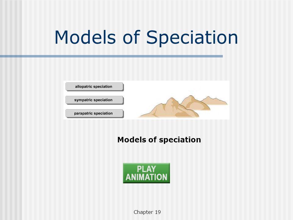 Chapter 19 Models of speciation Models of Speciation