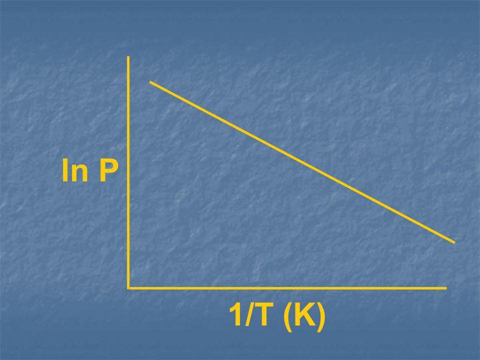 ln P 1/T (K)