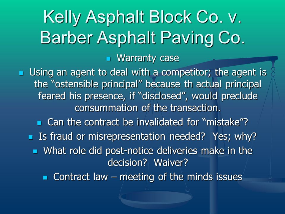 Kelly Asphalt Block Co. v. Barber Asphalt Paving Co.