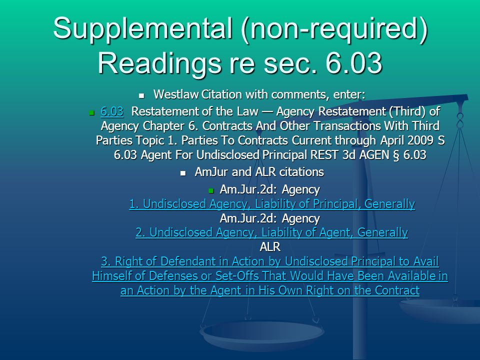Supplemental (non-required) Readings re sec.