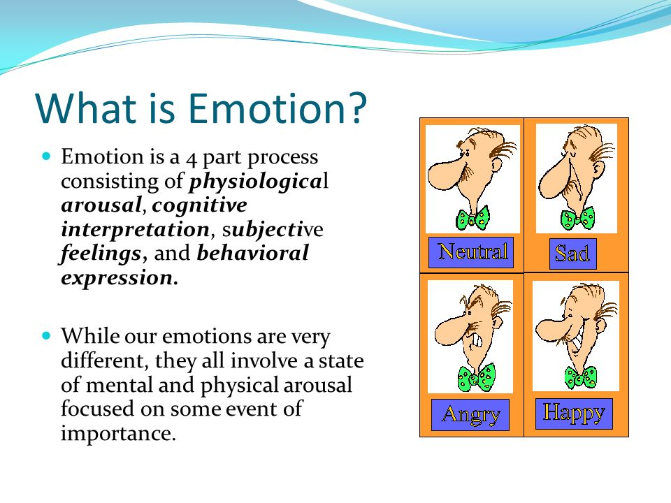 Theme chapter 12 ap psychology what is emotion emotion is a 4 part