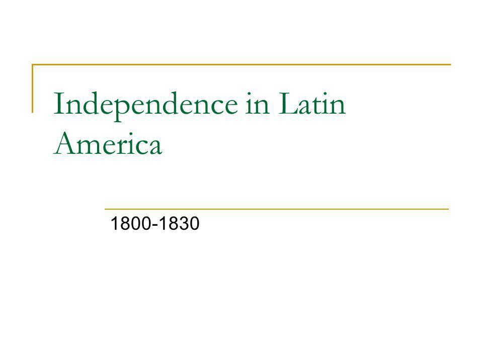Nation Building and Economic Transformation in the Americas, 1800-1890 Chapter 23