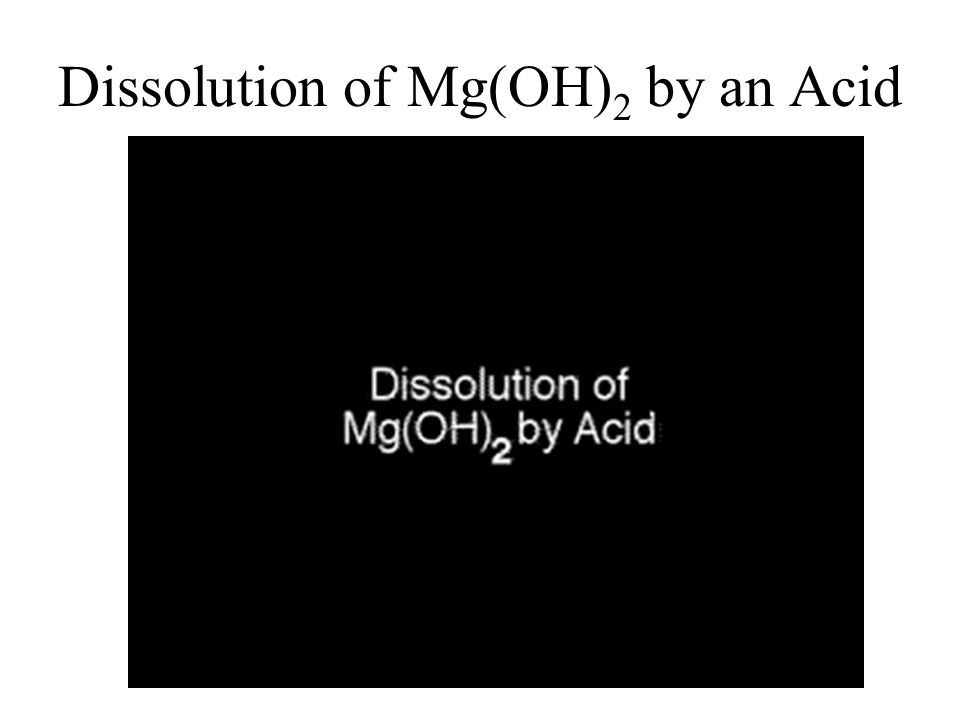 Dissolution of Mg(OH) 2 by an Acid