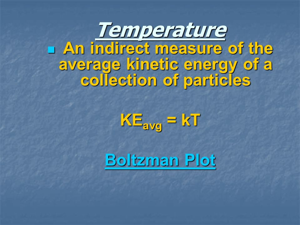 From classical physics where k is the Boltzman constant