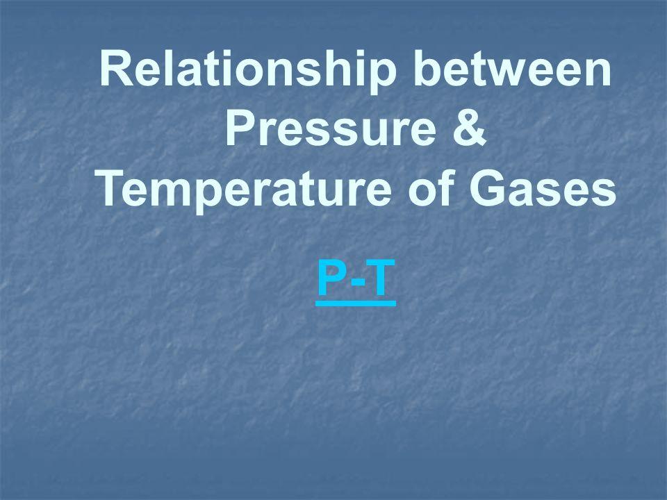 Relationship between Pressure & Temperature of Gases P-T
