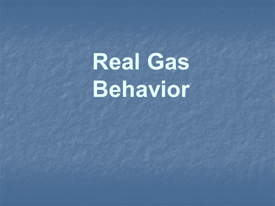 Real Gas Behavior