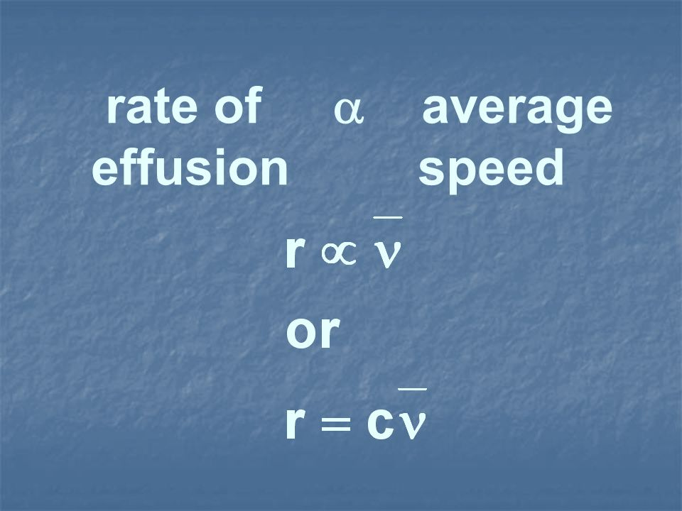 rate of average effusion speed