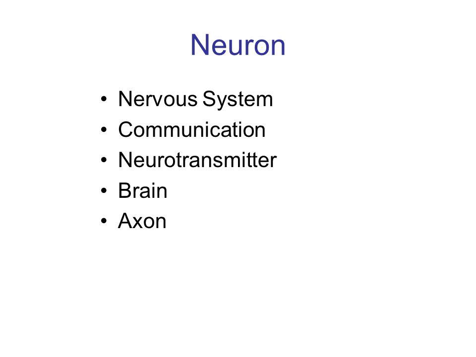 Neuron Nervous System Communication Neurotransmitter Brain Axon