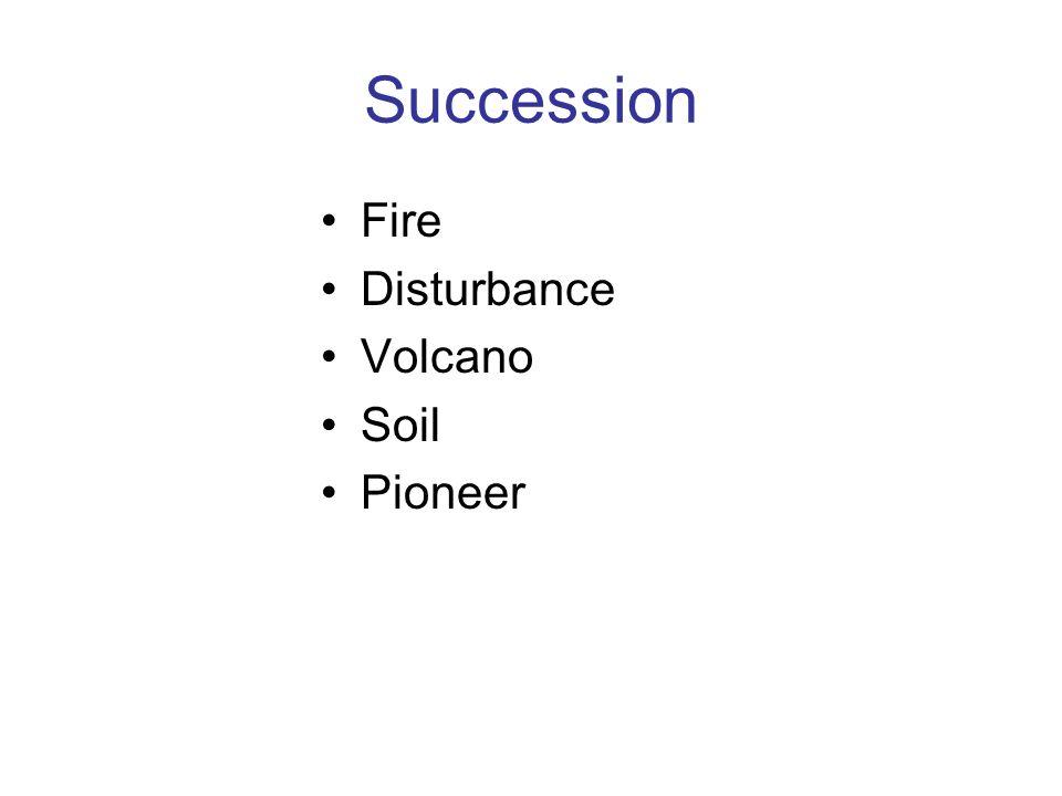 Succession Fire Disturbance Volcano Soil Pioneer
