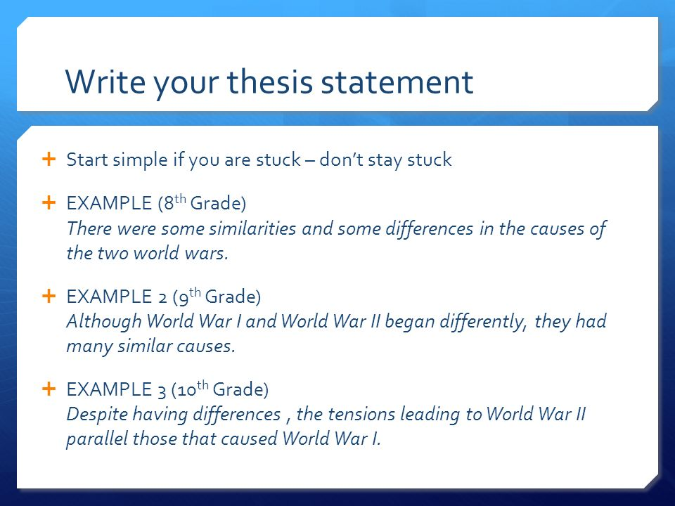 how to write a thesis examples