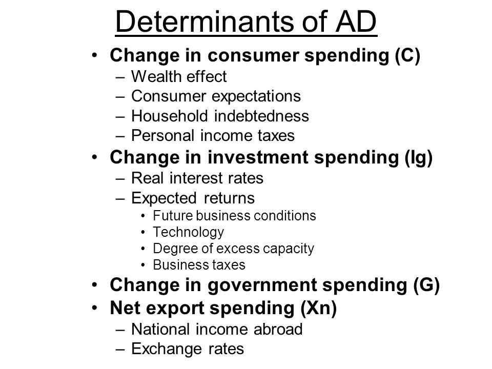 Price level Real domestic output, GDP CHANGES IN AGGREGATE DEMAND AD 1 AD 3 …or Decrease Aggregate Demand Can Increase