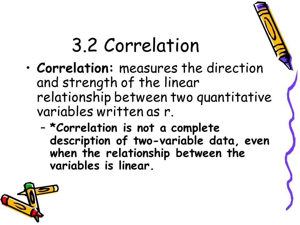 Correlation Formula:
