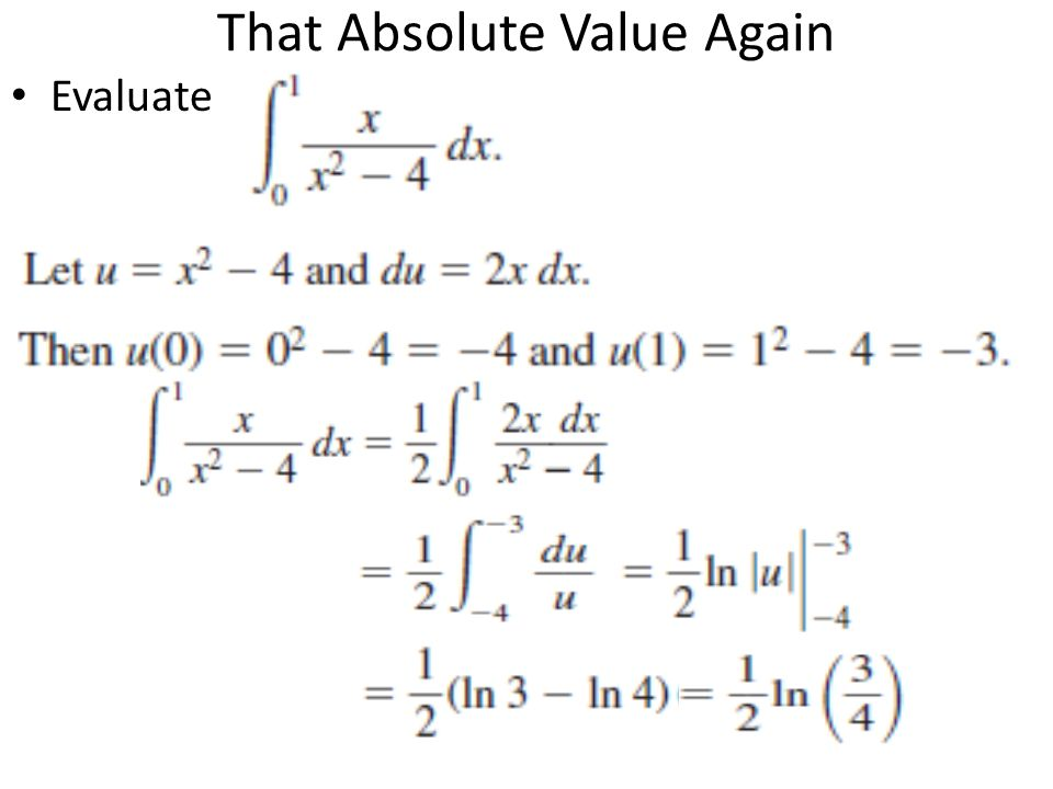 That Absolute Value Again Evaluate