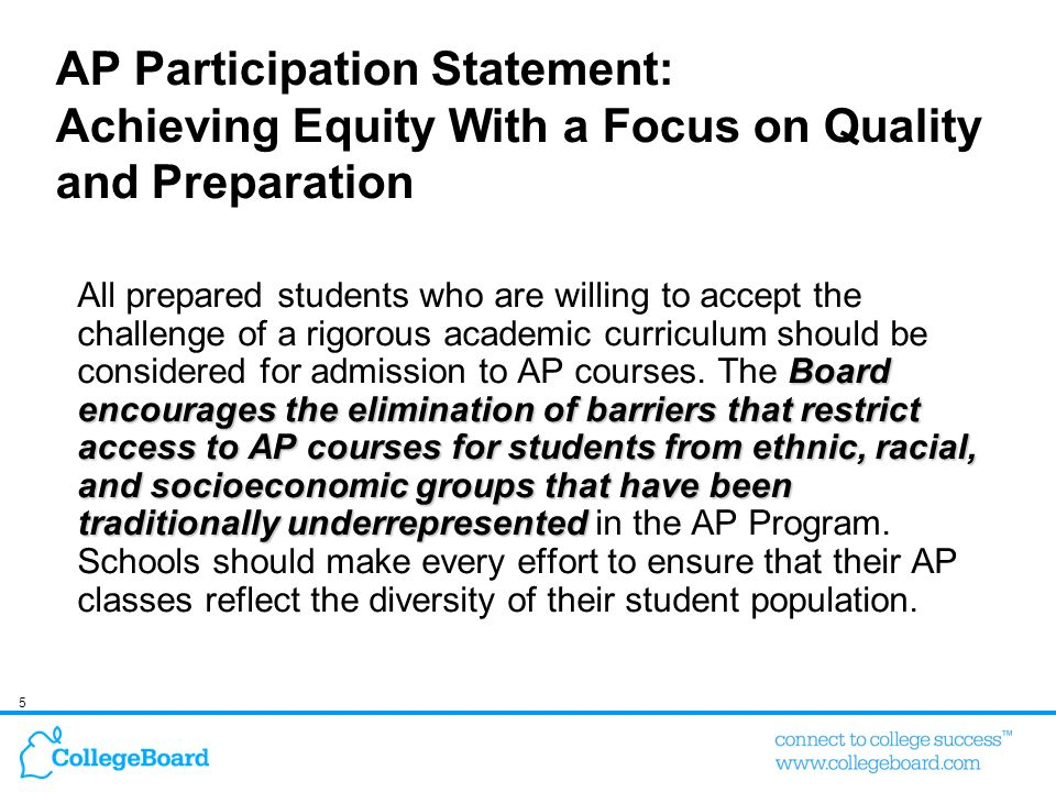 Colleges Want Assurance that AP Quality is Consistent Across High Schools and are Interested in Seeing the Relationship Between AP and College Success How important is the following to you.