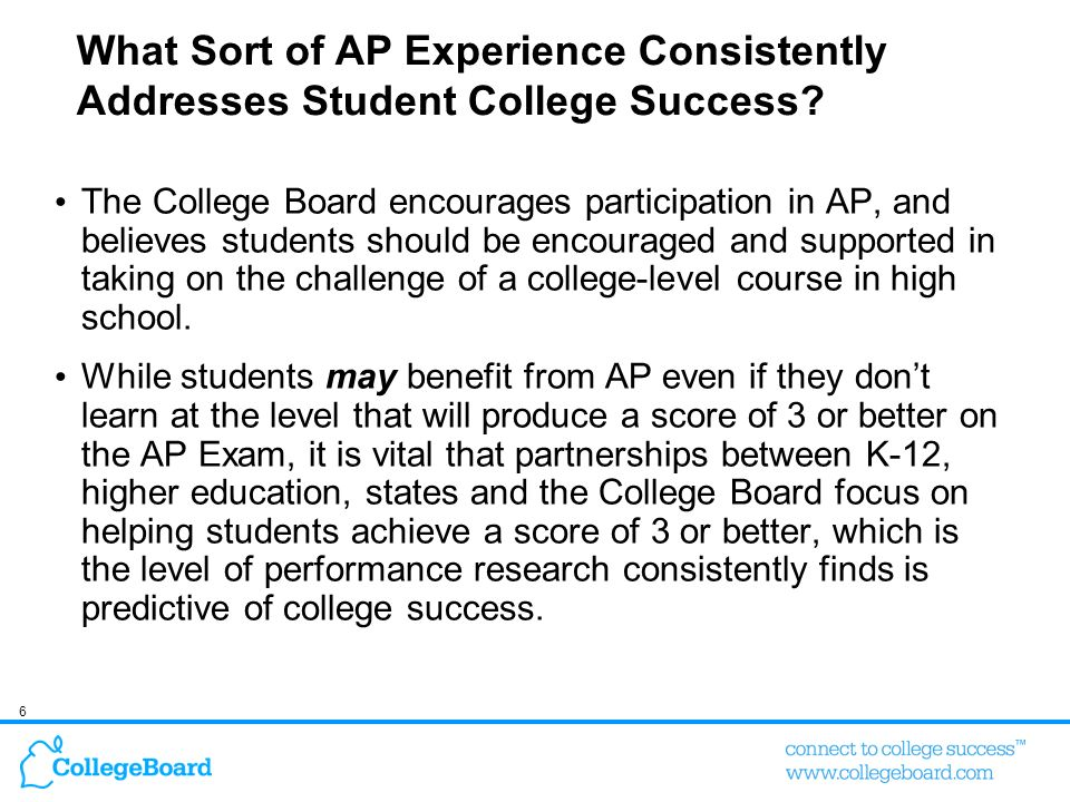 7 AP Overview Since 1955, AP has been providing high school students with rigorous course work that is comparable to entry-level college courses 37 Advanced Placement exams in 22 subject areas World Languages expansion: Italian (2006), Chinese and Japanese (2007) AP Exams, which colleges utilize for credit, placement or both, are given annually in May.