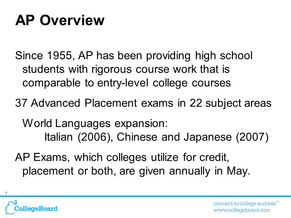 58 Hargrove, Godin, & Dodd, 2007 The AP course and exam group significantly outperformed the standard high school courses group on all college outcomes in all years, after statistically controlling for SAT scores and SES.