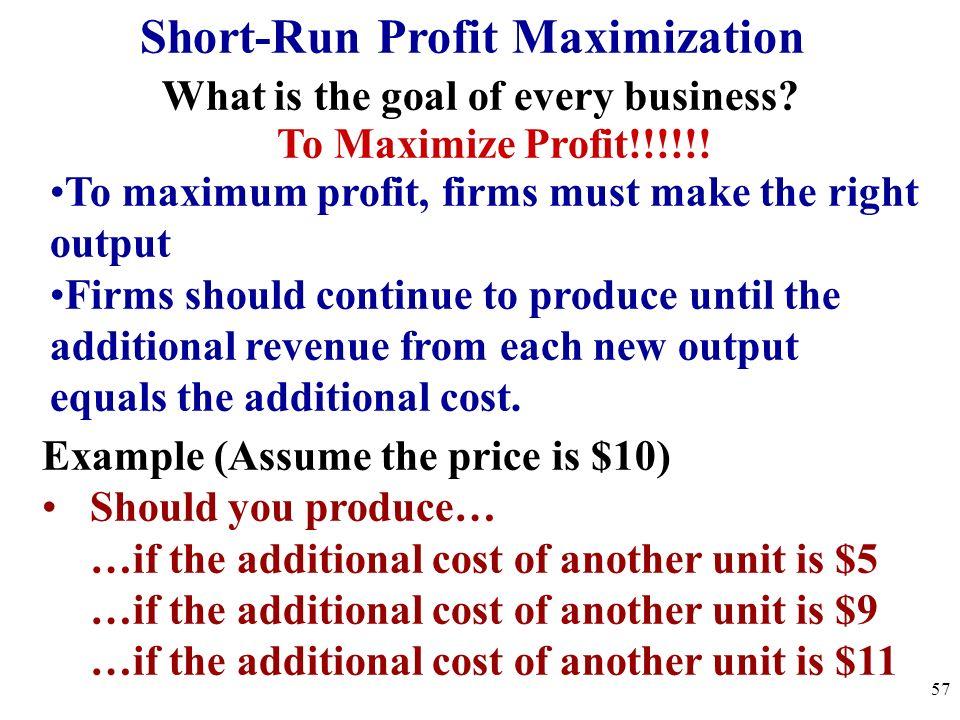 Maximizing PROFIT! 56