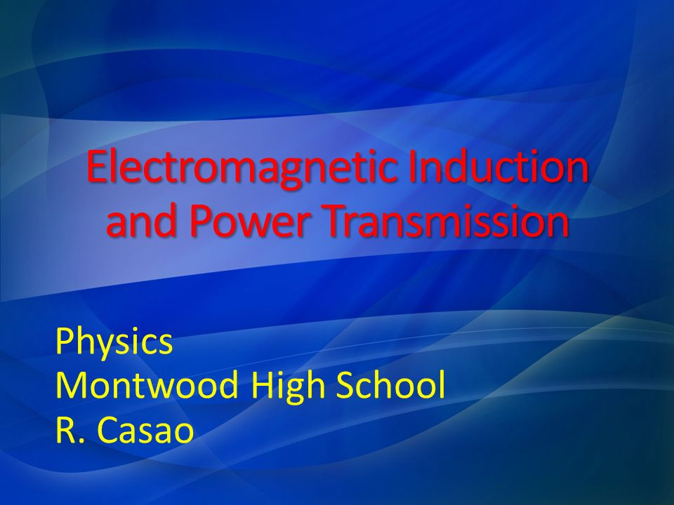 Electromagnetic induction is the process of generating an electric current by varying the magnetic field that passes through a circuit.
