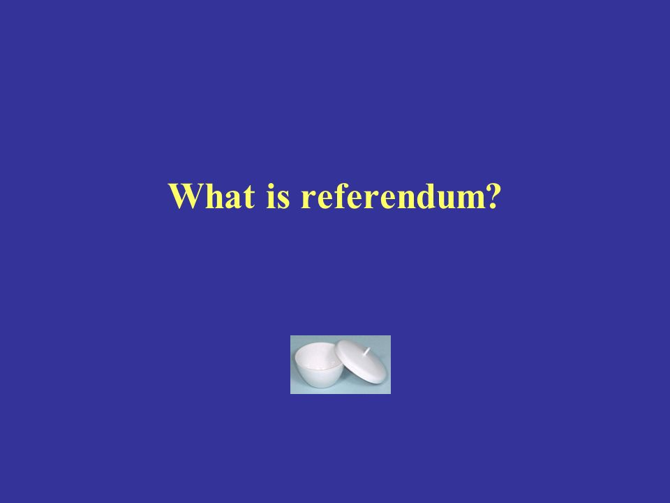 What is referendum