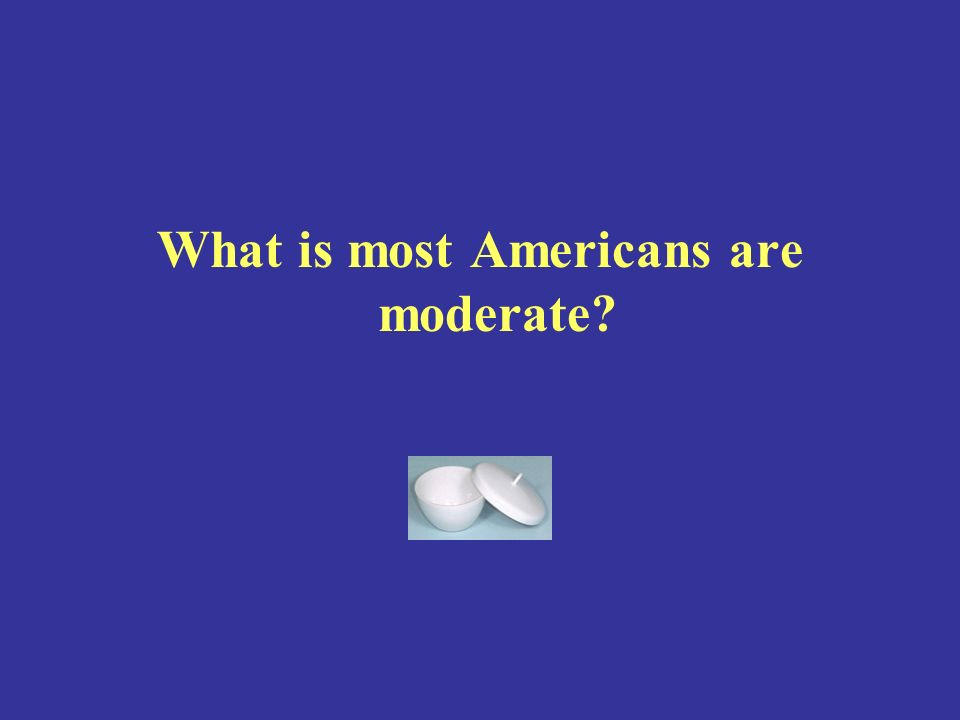 What is most Americans are moderate