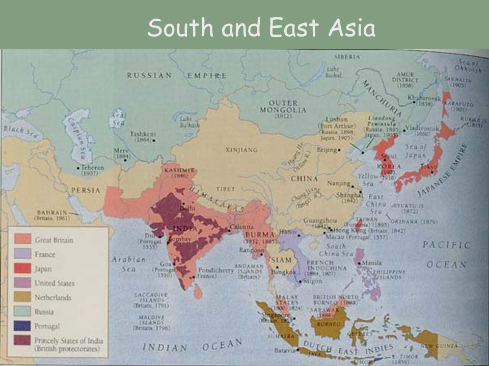 South and East Asia