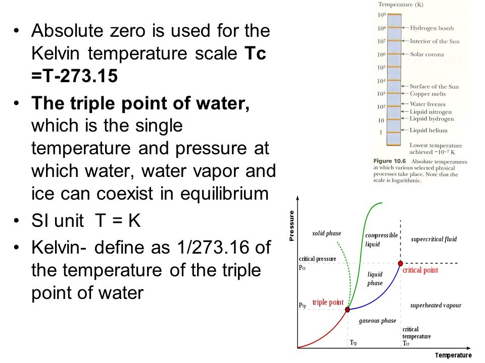 1/2 mv 2 =3/2 k B T KE total = N(1/2 mv 2 ) =3/2 Nk B T k B = R / NA; n = N / N A KE total = 3/2 n RT –the total transitional KE of the system of molecules is proportional to the absolute temperature of the system The Internal energy U for a monatomic gas: U= 3/2 n RT The root-mean-square (rms) speed of the molecule v rms = v 2 = 3k B T/m= 3RT/M (M- molar mass)