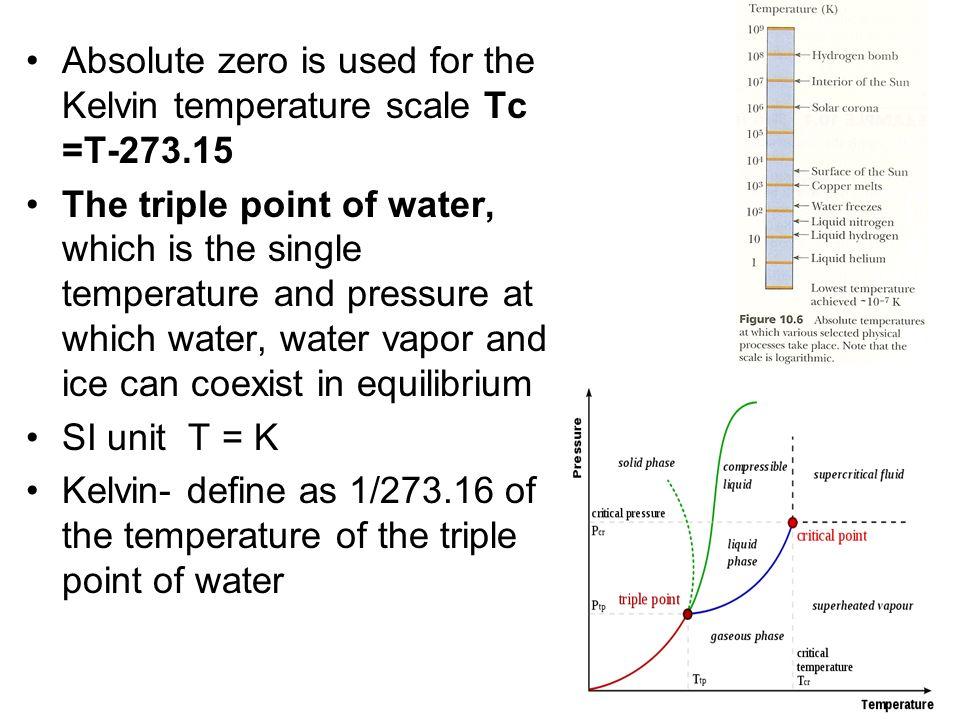 The Celsius, Kelvin and Fahrenheit Temperature Scale 0 o C=32oF; 100 o C= 212 o F T F =9/5 T C +32 T C =5/9(T F -32) ΔT F =9/5ΔT C