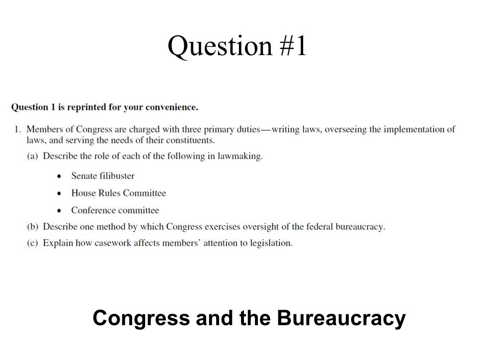 Question #2 Congress, Political Participation and Civil Rights