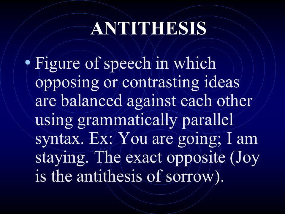 antithesis used in speeches