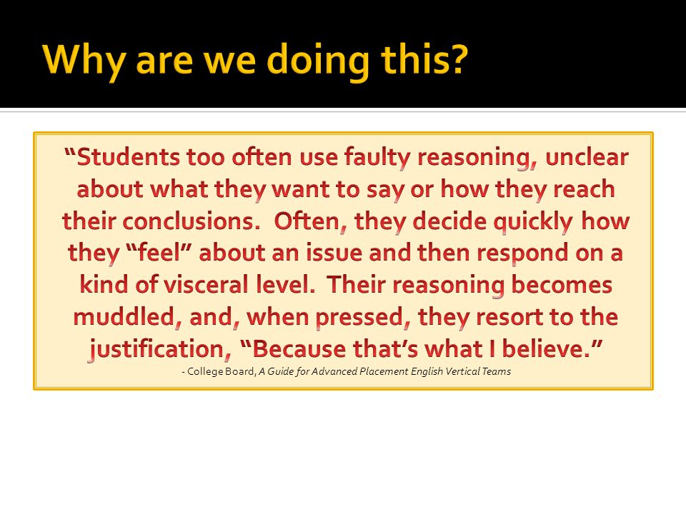 Summarize or paraphrase the issue.List the pros (defend) and cons (challenge).