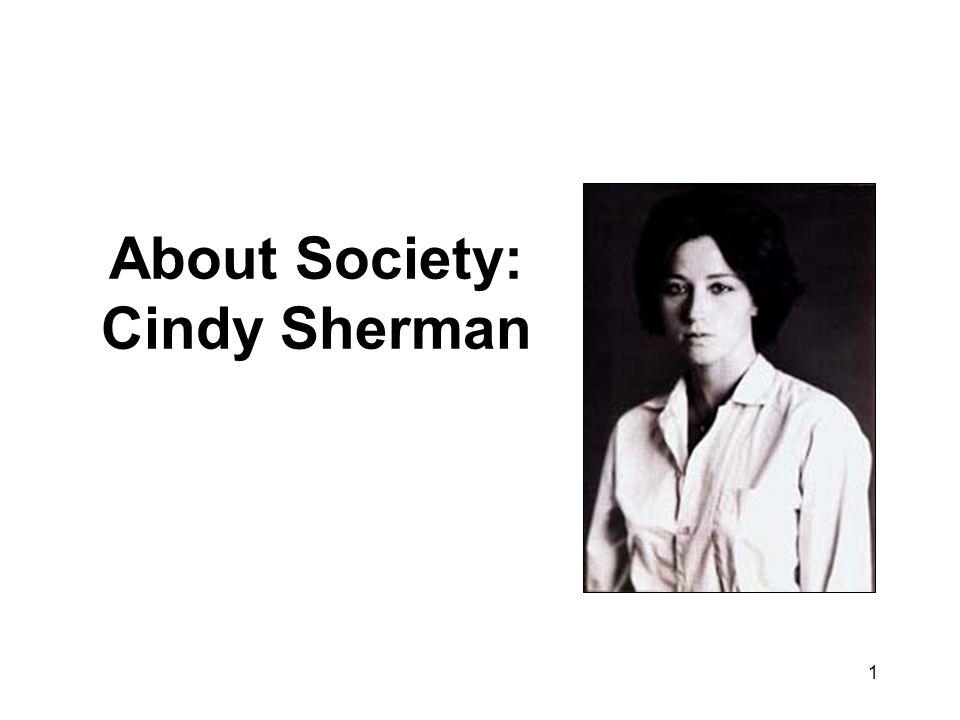 1 About Society: Cindy Sherman