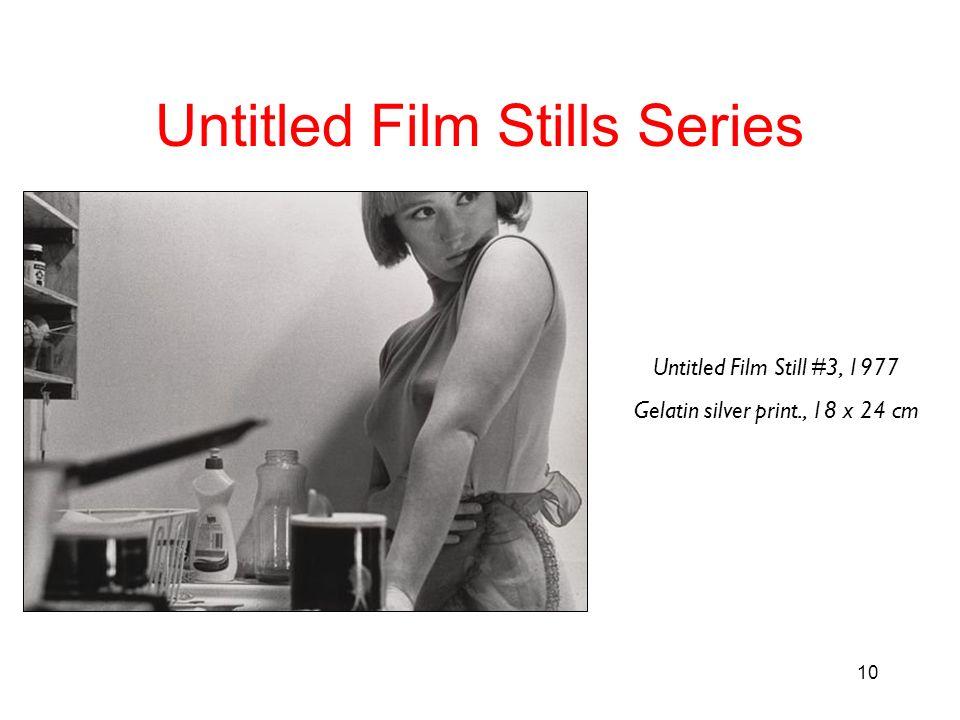 10 Untitled Film Stills Series Untitled Film Still #3, 1977 Gelatin silver print., 18 x 24 cm
