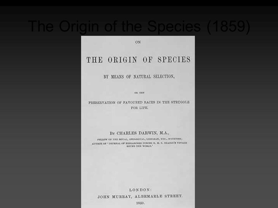 The Origin of the Species (1859)