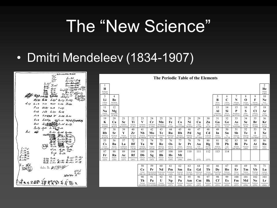 The New Science Dmitri Mendeleev (1834-1907)