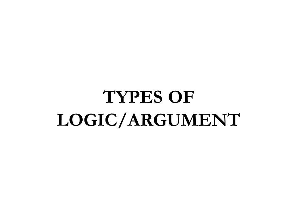 TYPES OF LOGIC/ARGUMENT