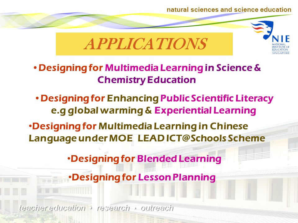 natural sciences and science education teacher education research outreach - Intermediate learning can then be executed whereby students learn more about the concept and apply to simple problems.