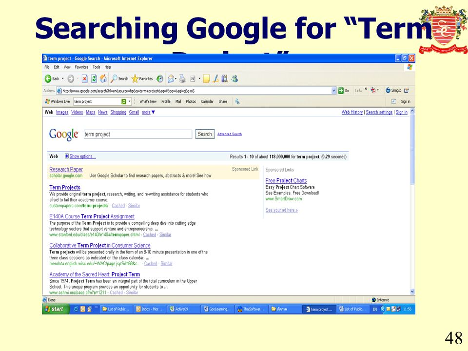 48 Searching Google for Term Project.