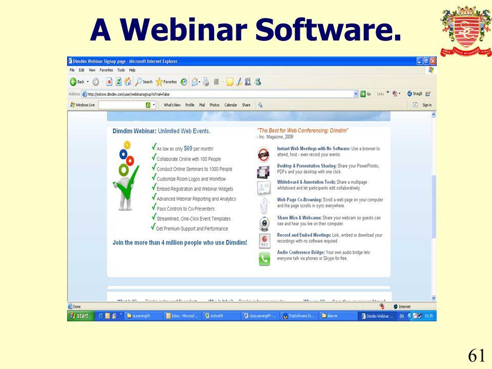 61 A Webinar Software.