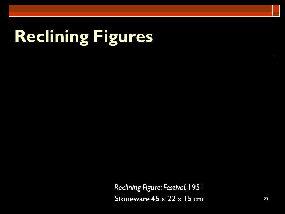 23 Reclining Figures Reclining Figure: Festival, 1951 Stoneware 45 x 22 x 15 cm