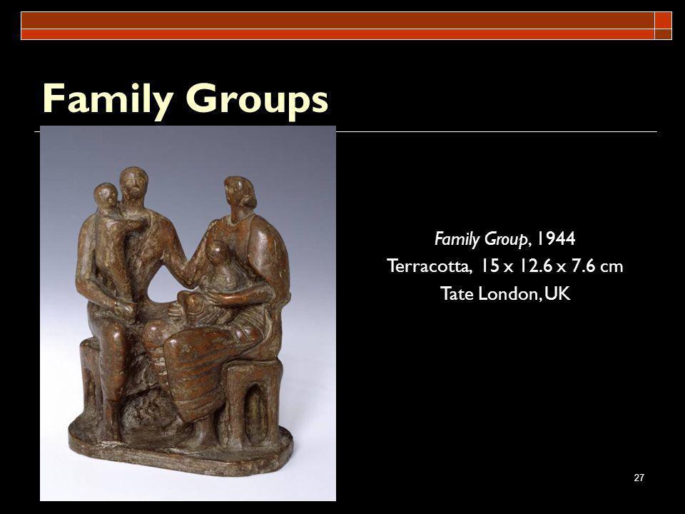 27 Family Groups Family Group, 1944 Terracotta, 15 x 12.6 x 7.6 cm Tate London, UK