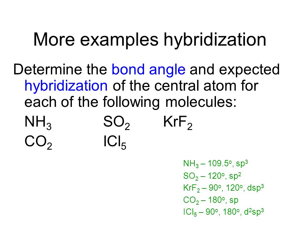 Examples Draw the Lewis structure for HCN. Which hybrid orbitals are used? Draw HCN: Showing all bonds between atoms. Labeling each bond as or.