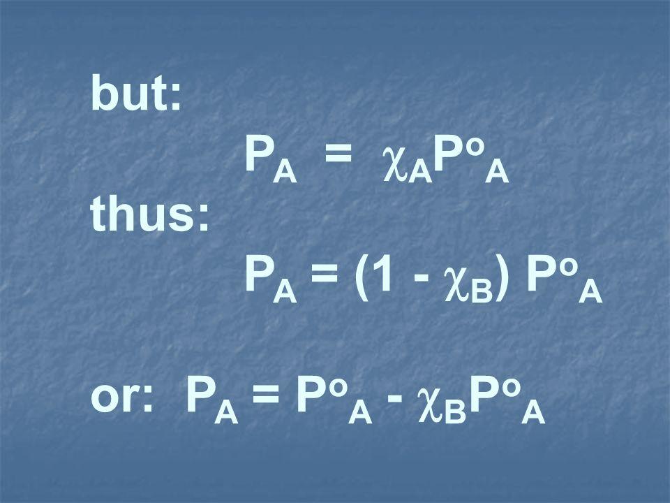 but: P A = A P o A thus: P A = (1 - B ) P o A or: P A = P o A - B P o A