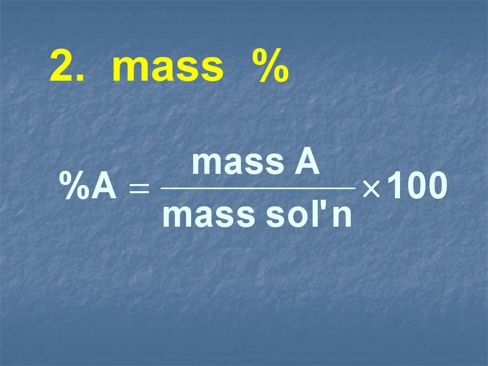 2. mass %